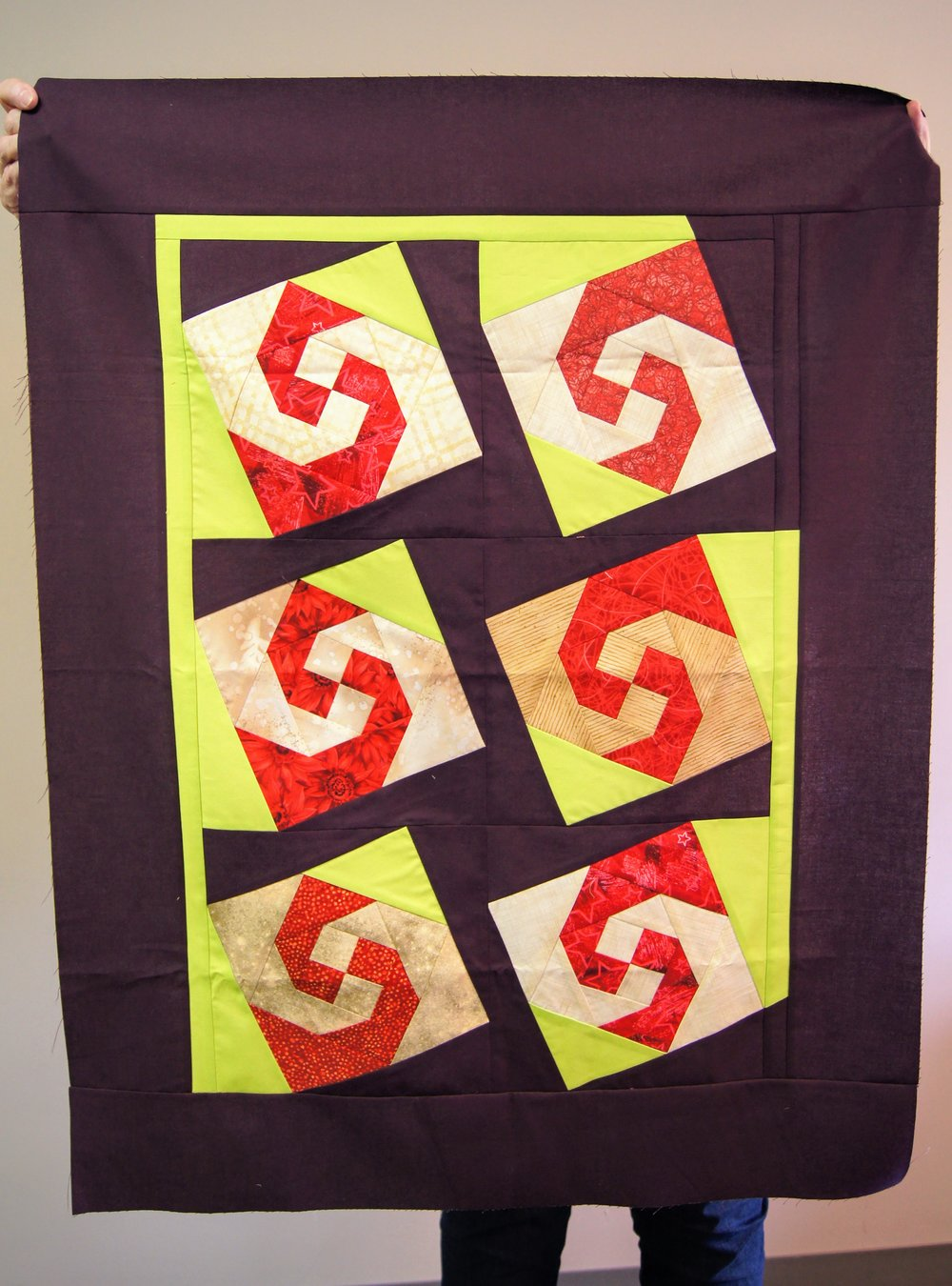 Jean Larson's quilt top from the Mary Kerr workshop
