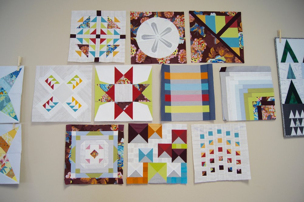 Blocks assembled by Audrey Workman using foundation paper piecing methods.