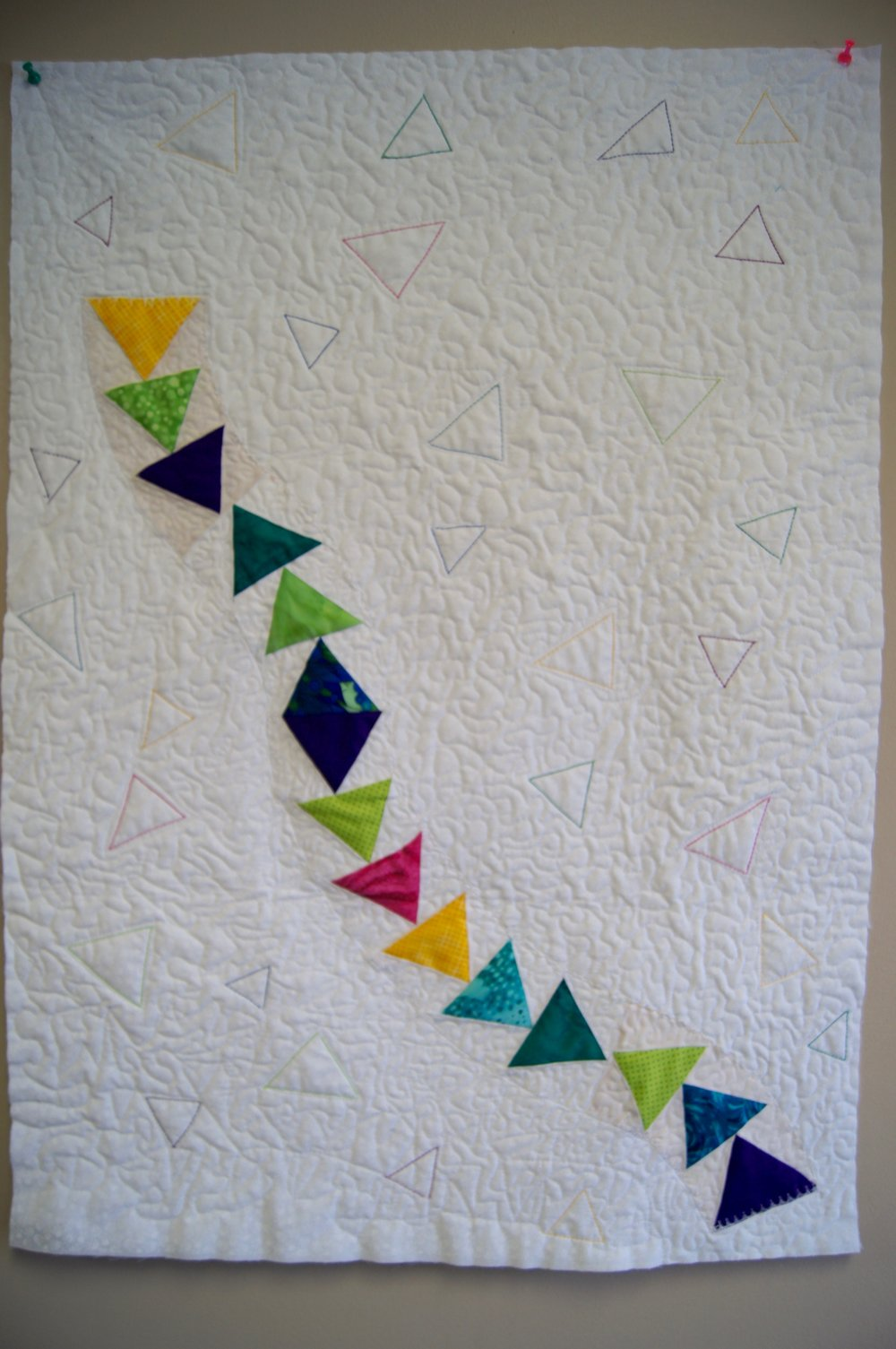 Delores Dady's paper-pieced flying geese