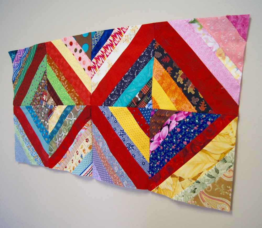 Toni's sample of paper-pieced string blocks
