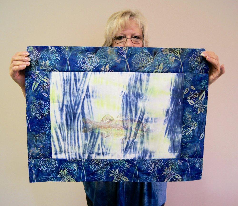 Karen Downer's gyotaku fish print