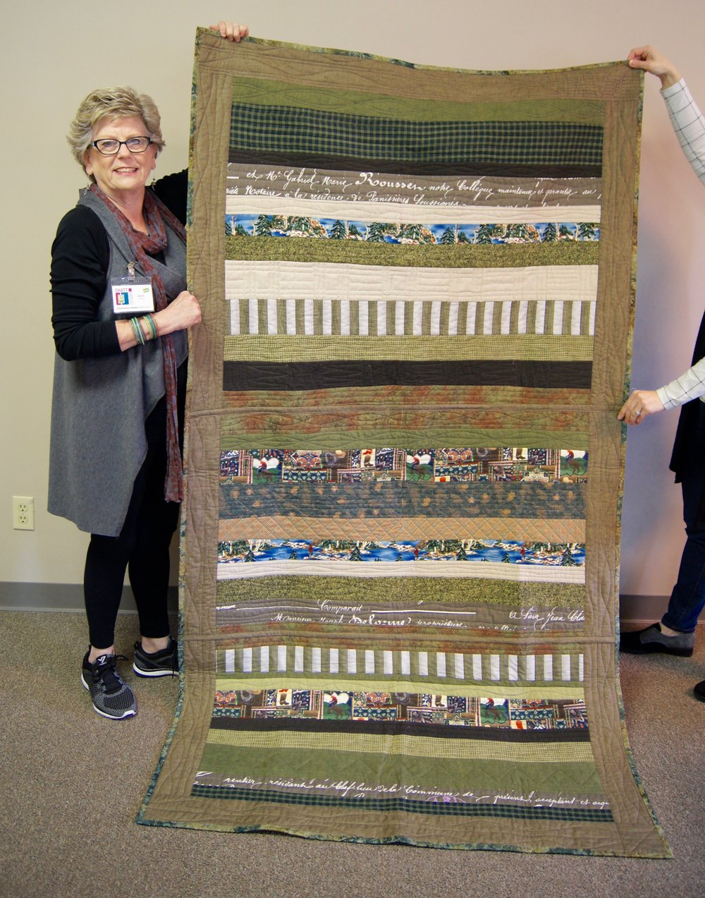 Ann Hurley's glorious green strip quilt