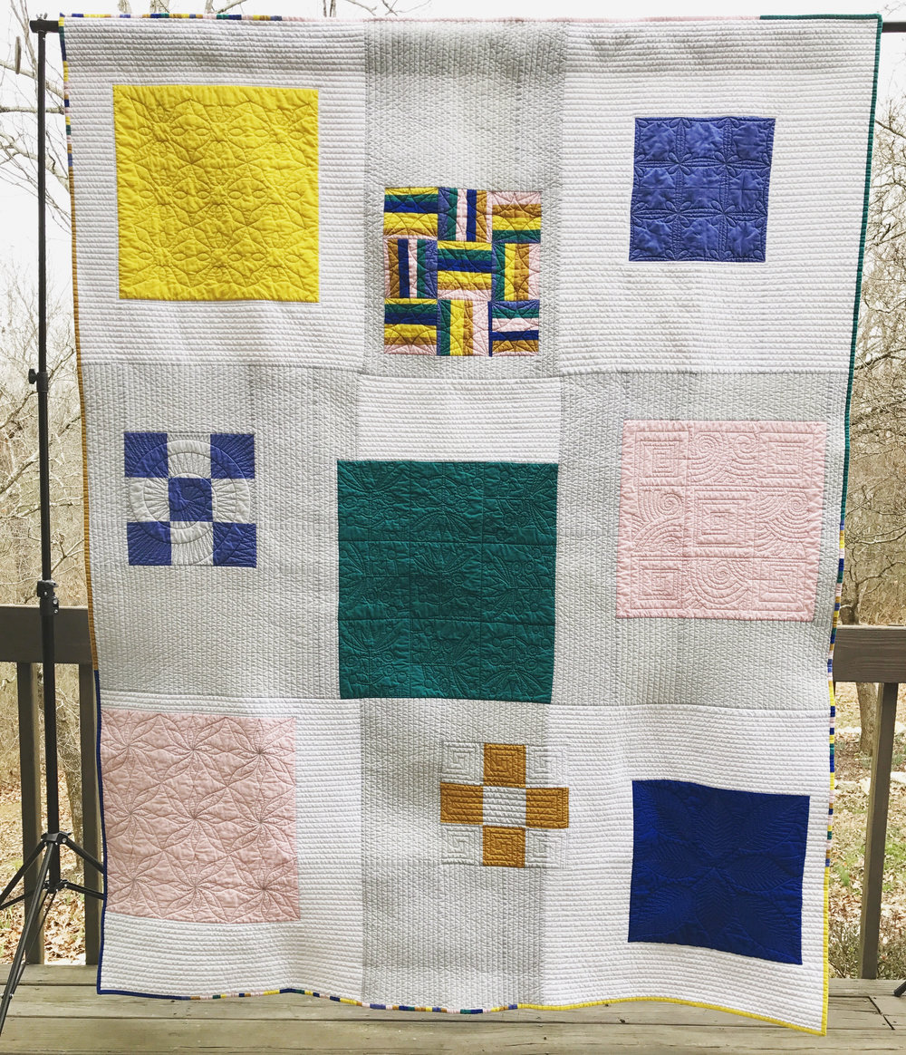 Our QuiltCon Charity Quilt Challenge entry was quilted by longarmer Rhonda Fulghum.