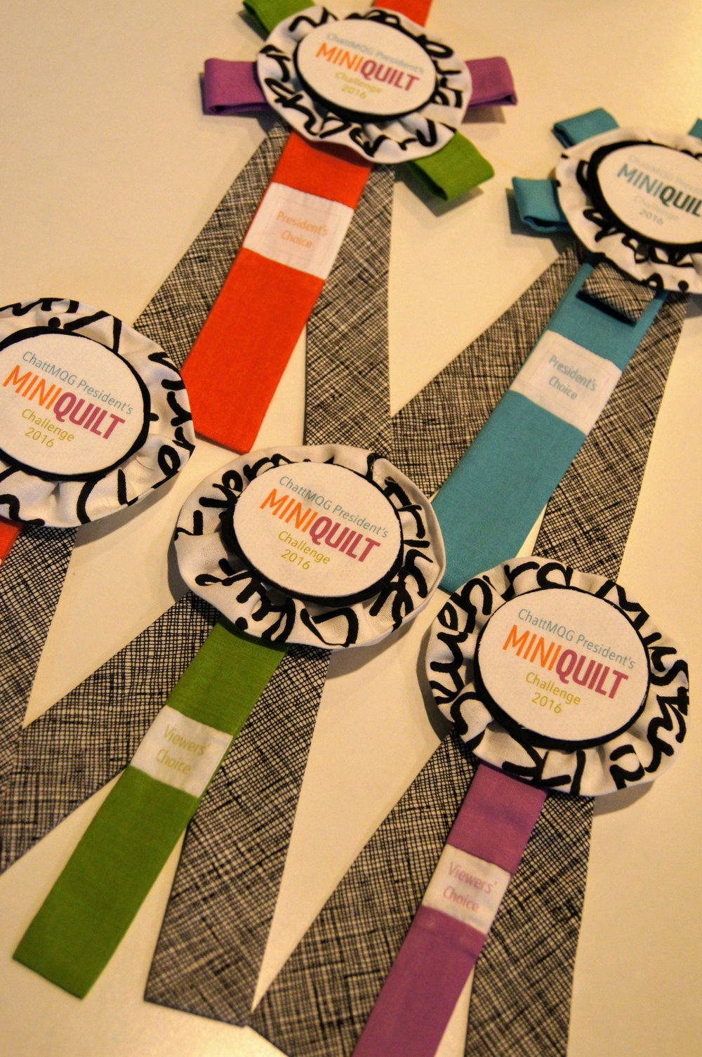 Ribbons made by Audrey Workman
