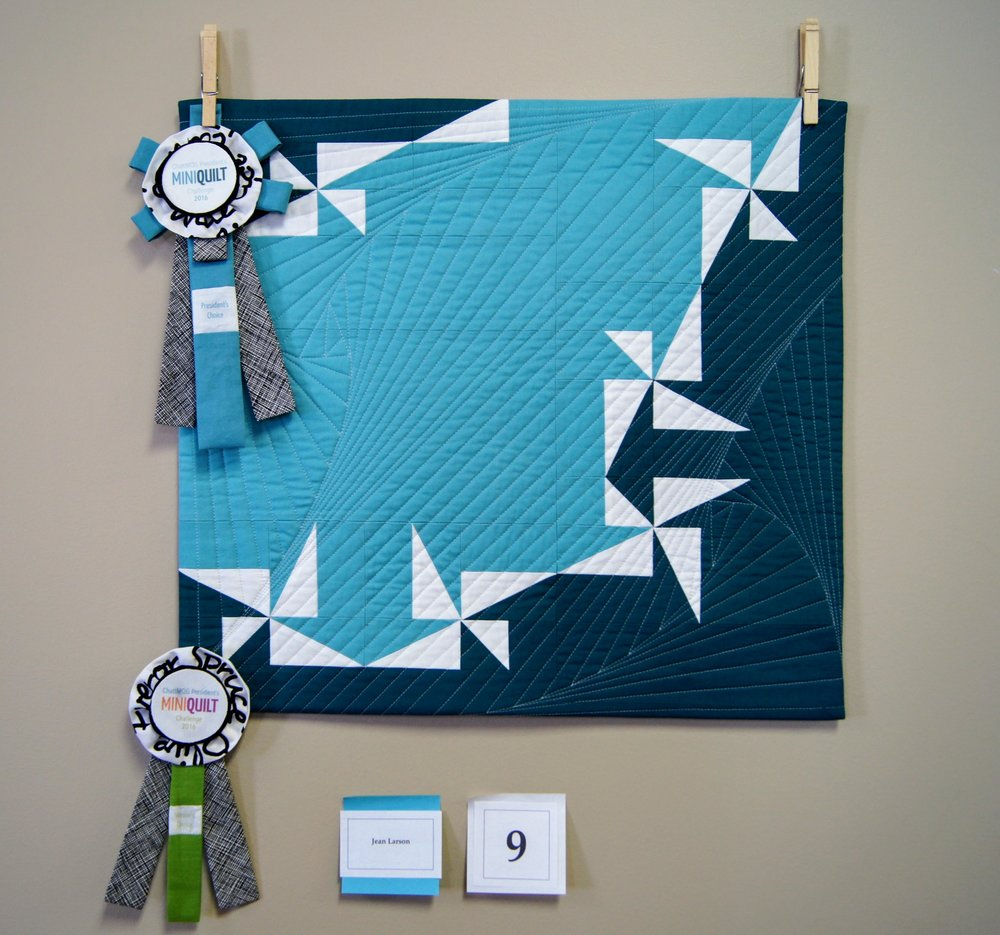 1st place quilt by Jean Larson