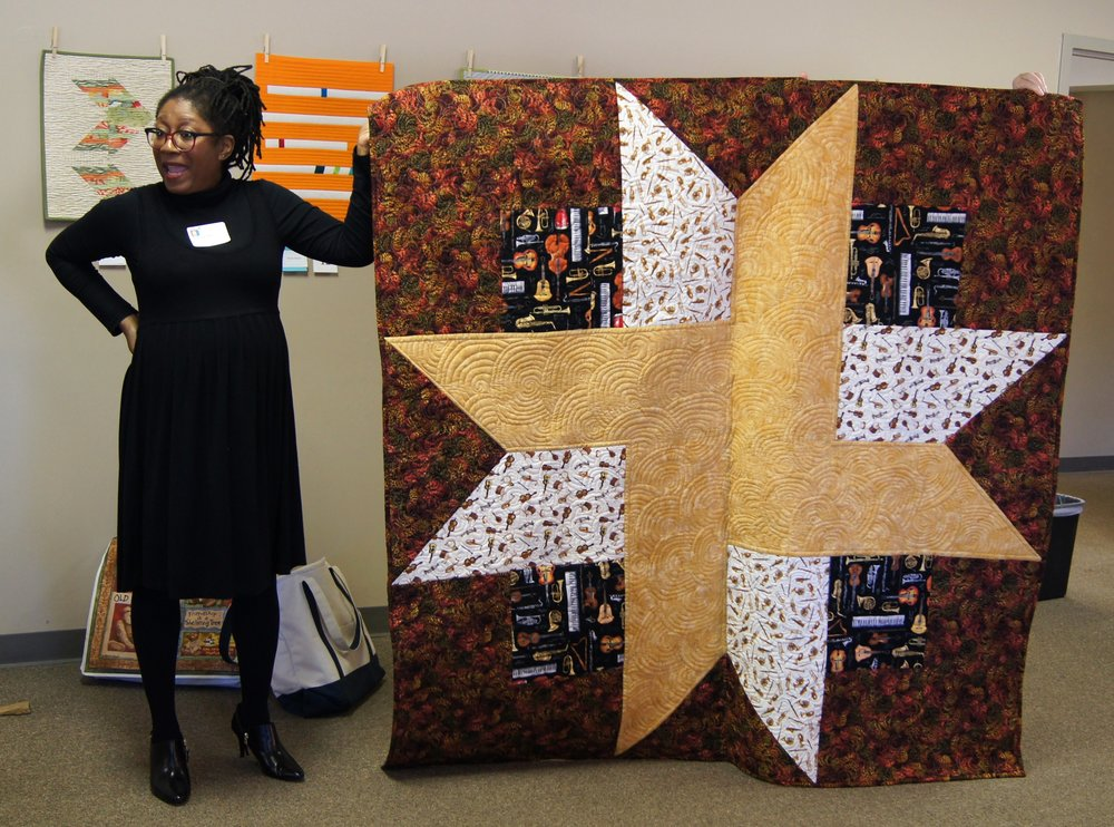 Carolyn Pugh made this quilt to give as a gift