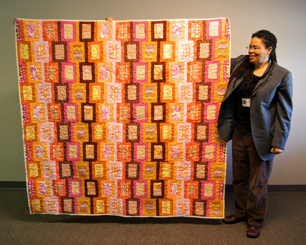Vanessa King donated this quilt toward our Habitat for Humanity effort