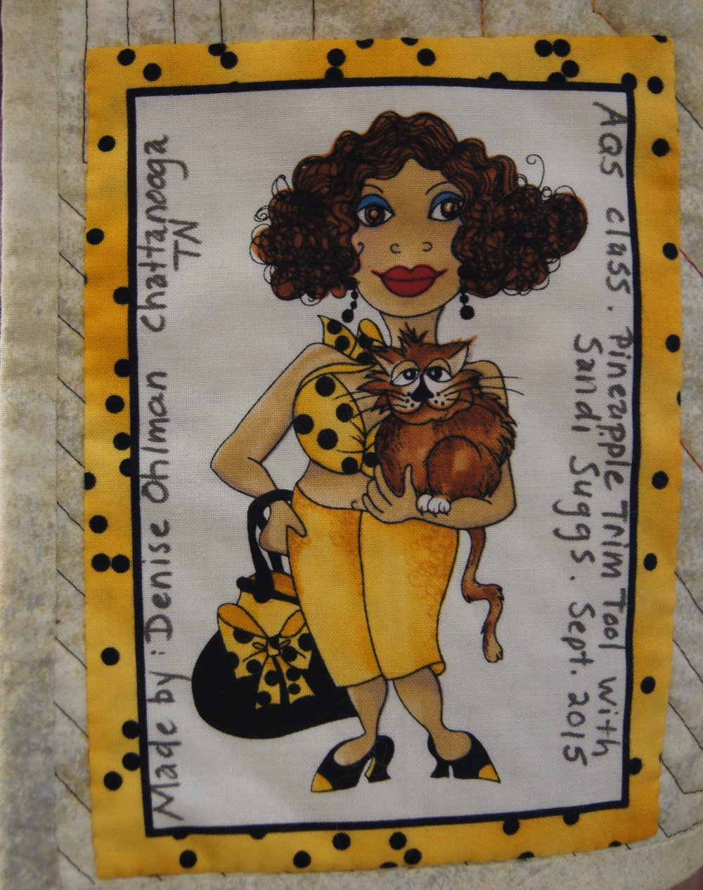 Quilt label by Denise Ohlman