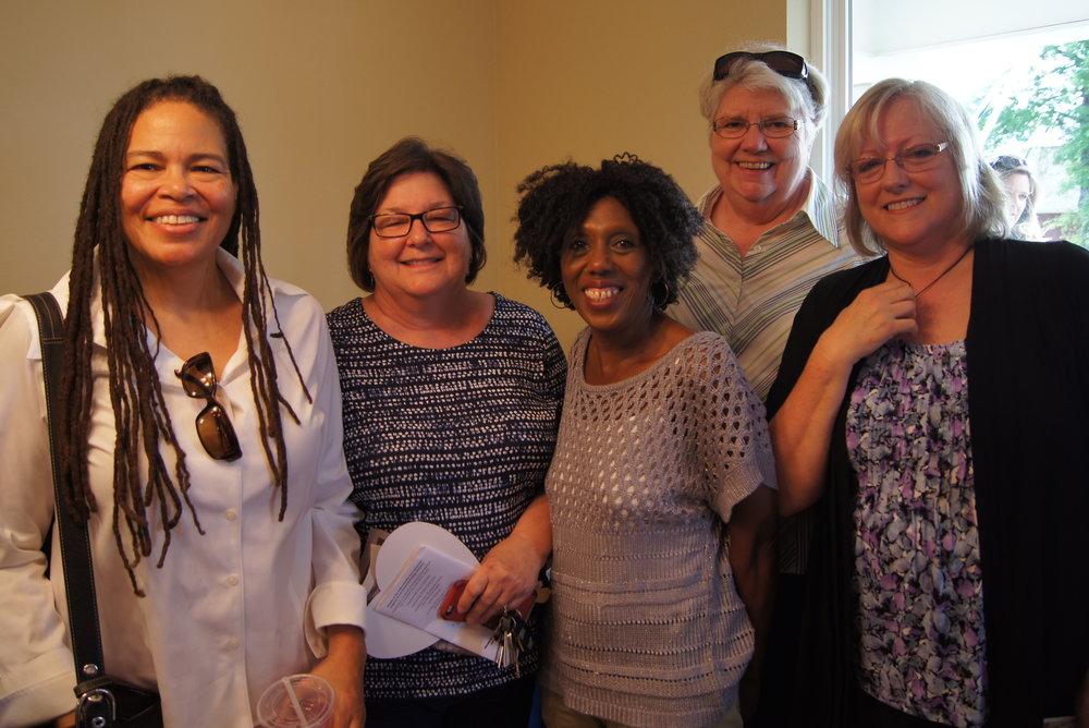 Vanessa King, Pam McCallie, Cornelia Johnson, Jean Larson, and Karen Downer.Photo courtesy of Habitat of Humanity of Greater Chattanooga.