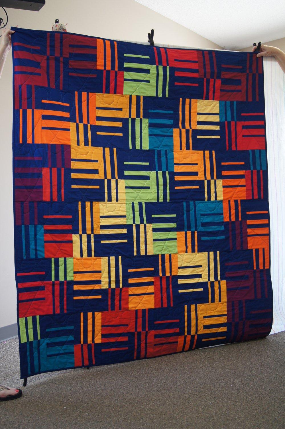 Knee Socks quilt block pattern by Elizabeth Hartman