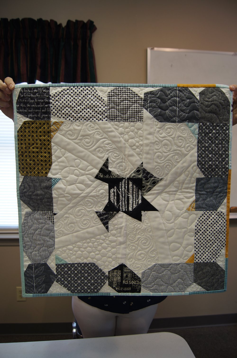 This is the quilt Denise received from her partner