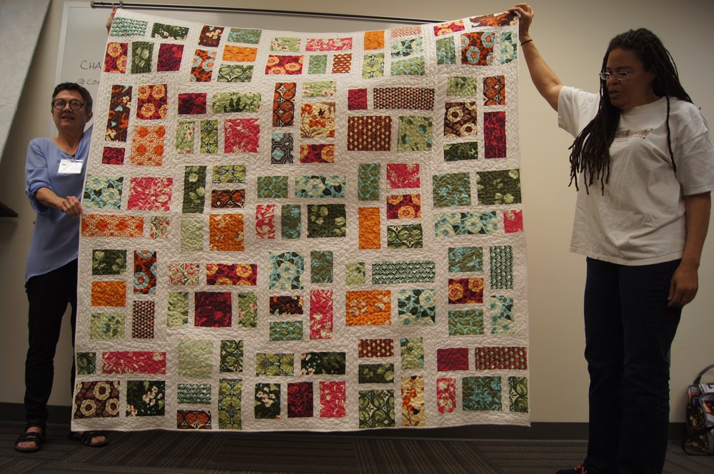 Quilt by Vanessa King (right)