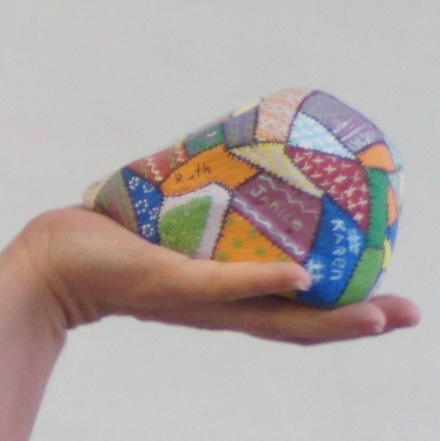 Closeup of Bethany's rock