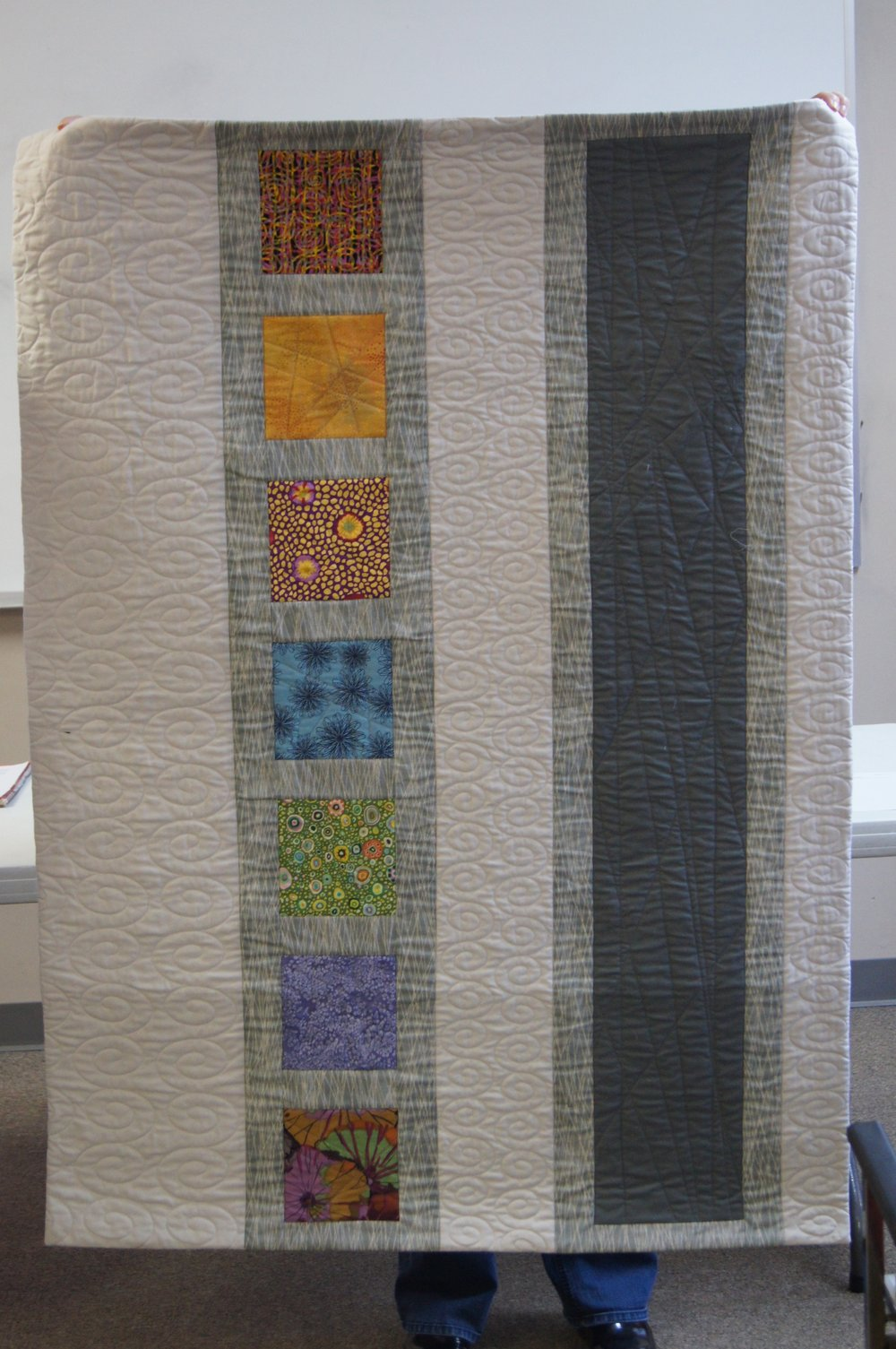 Quilt back by Gerry Haywood