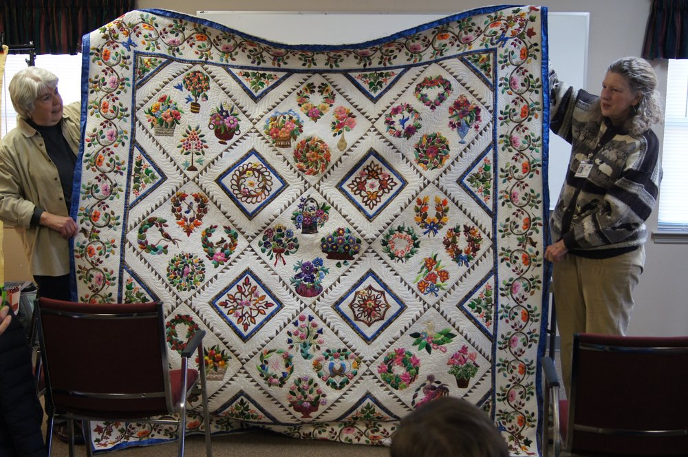 Quilt by Shirley Prince (right)