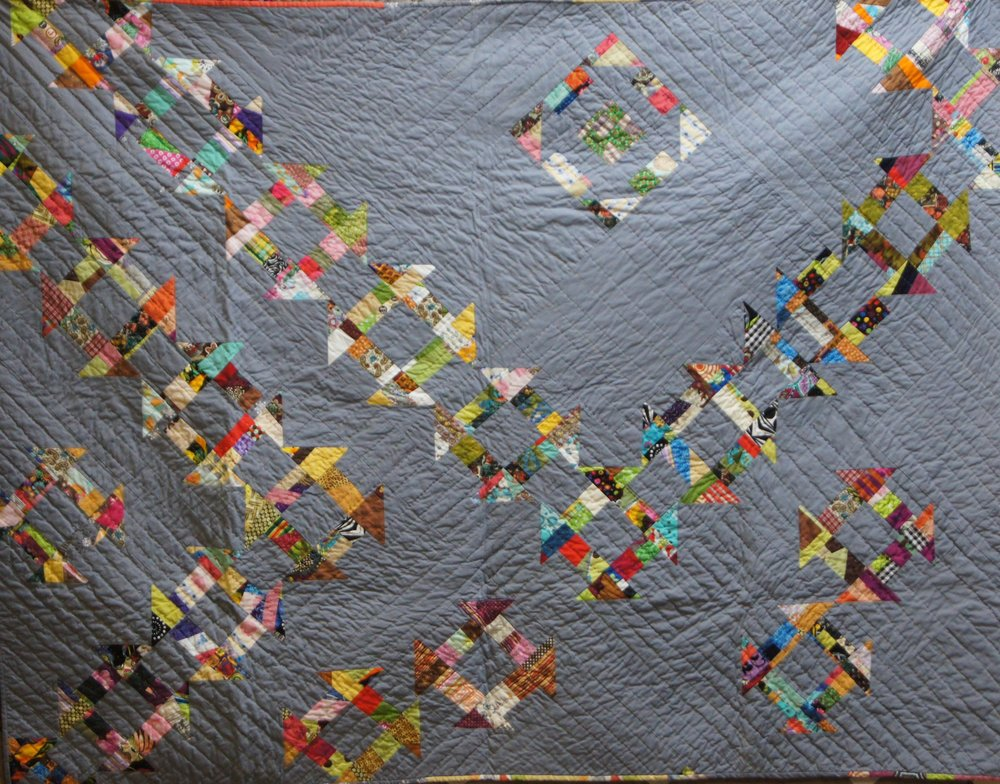 This is the Team Janet quilt from 2014, hand-quilted by Janet.
