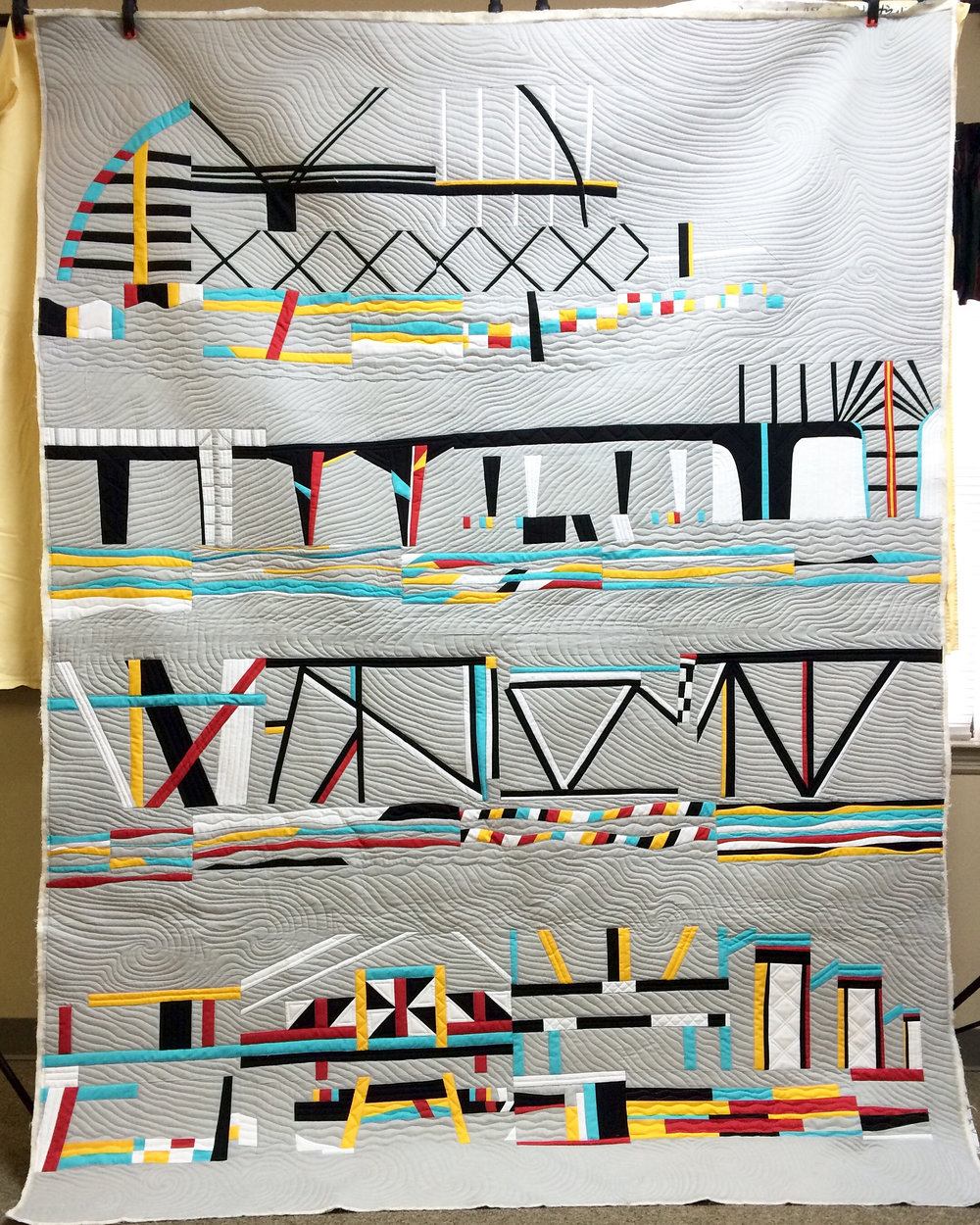 Bridges quilt by ChattMQG