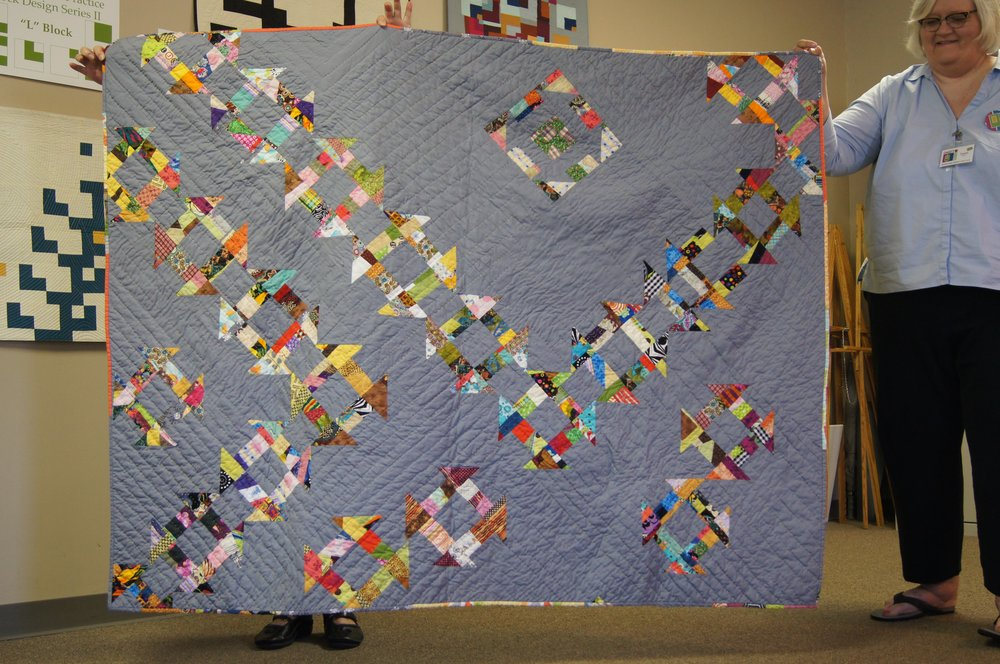 Team Janet's charity quilt