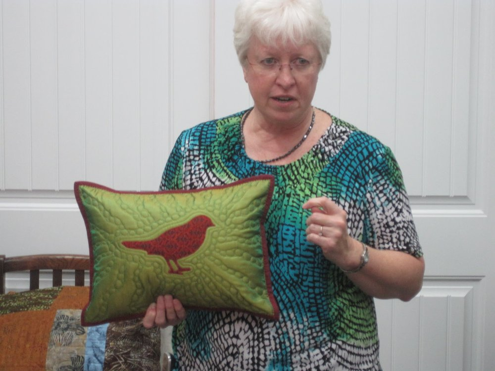 Quilted pillow by Martha Steele