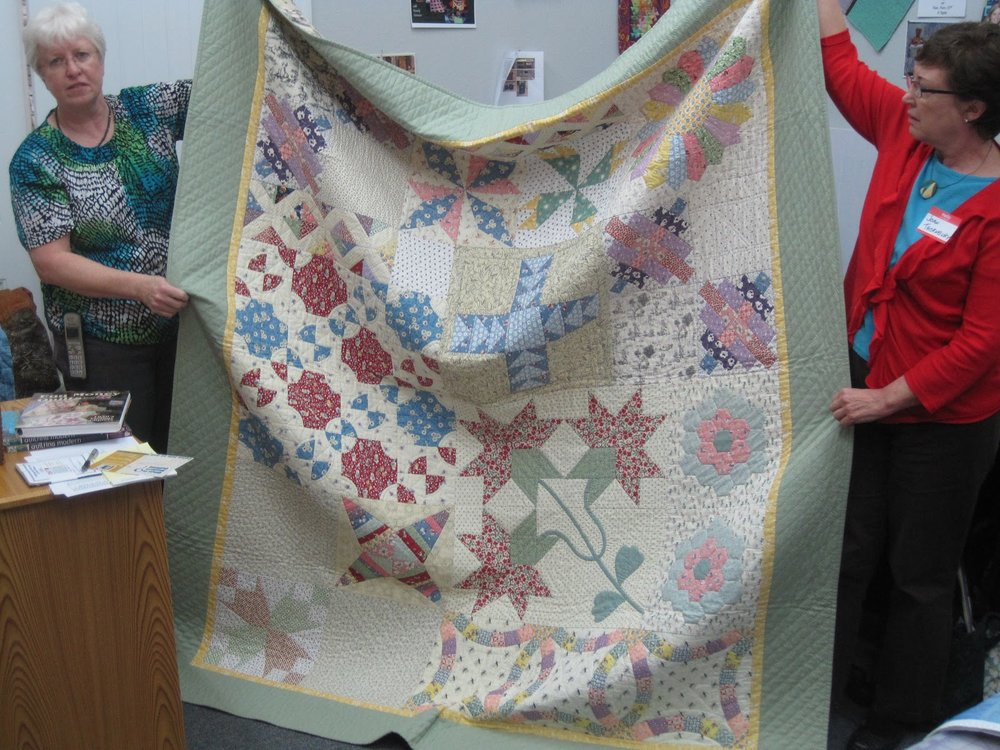 Quilt by Martha Steele (left)