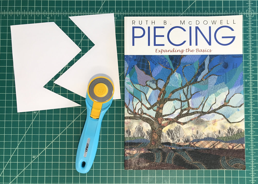 "Ruth McDowell's book ""Piecing: Expanding the Basics"" is a great resource."
