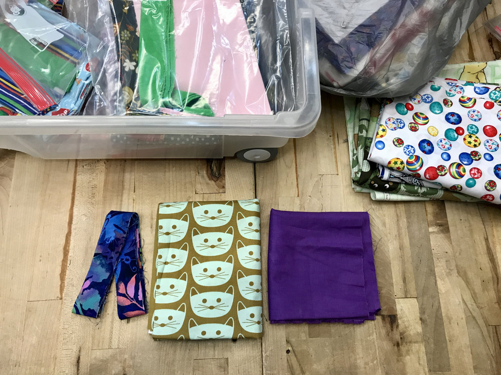 One feline-friendly pillowcase kit ready to be sewn.