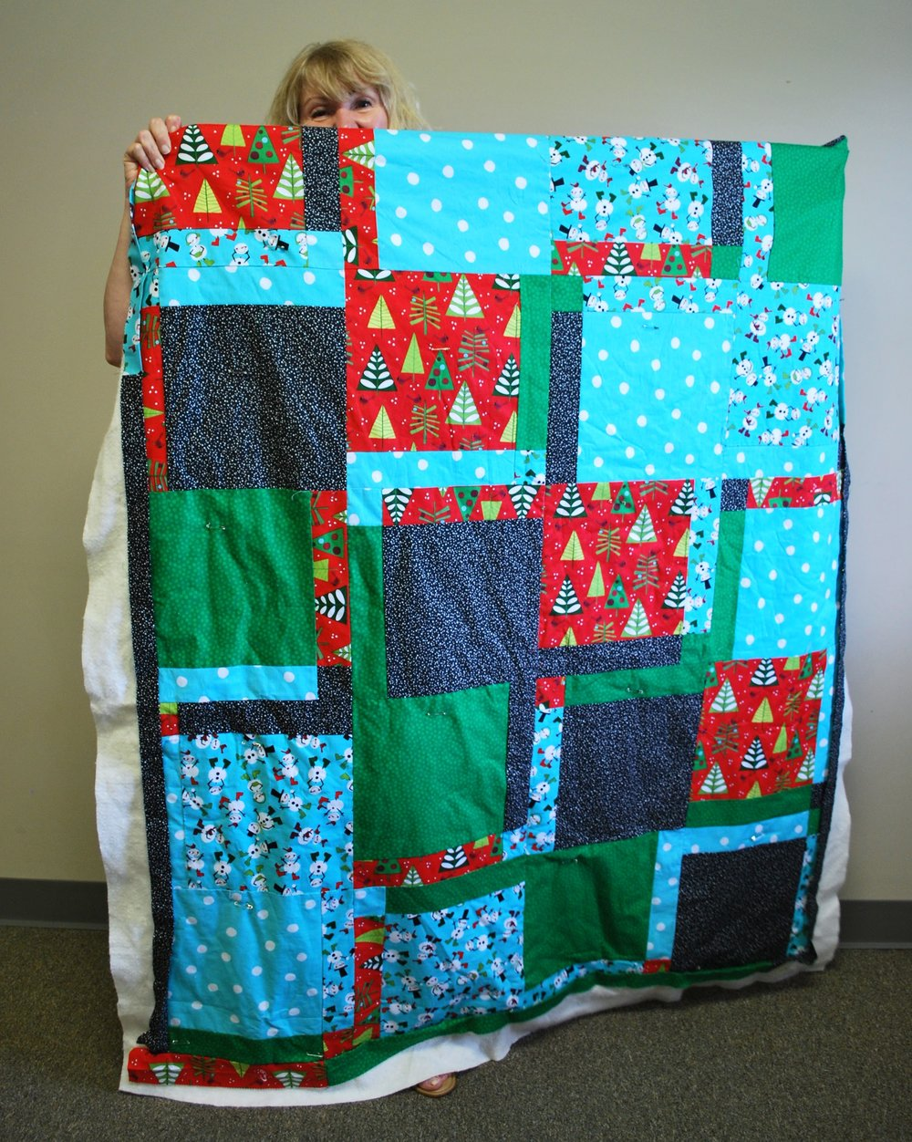 Christmas quilt by Katharine Laurance