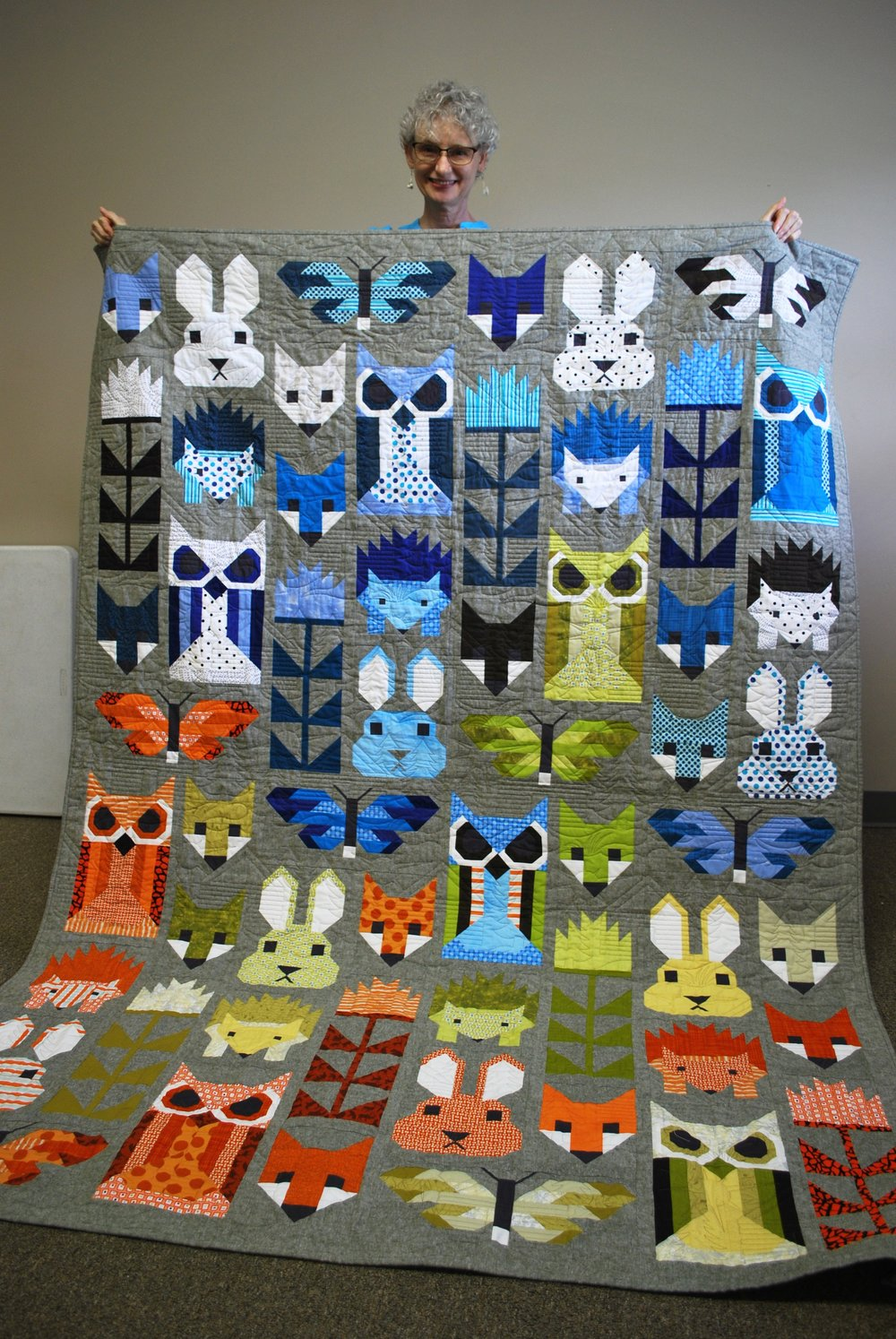 Fancy Forest quilt by Denise Ohlman (pattern by Elizabeth Hartman)
