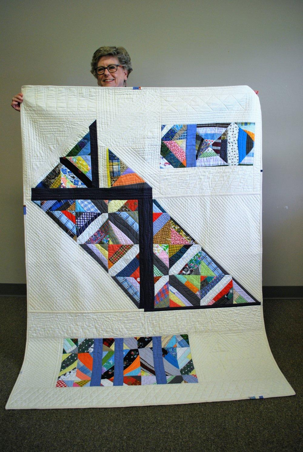 Ann Hurley's Cut It Up! Challenge quilt
