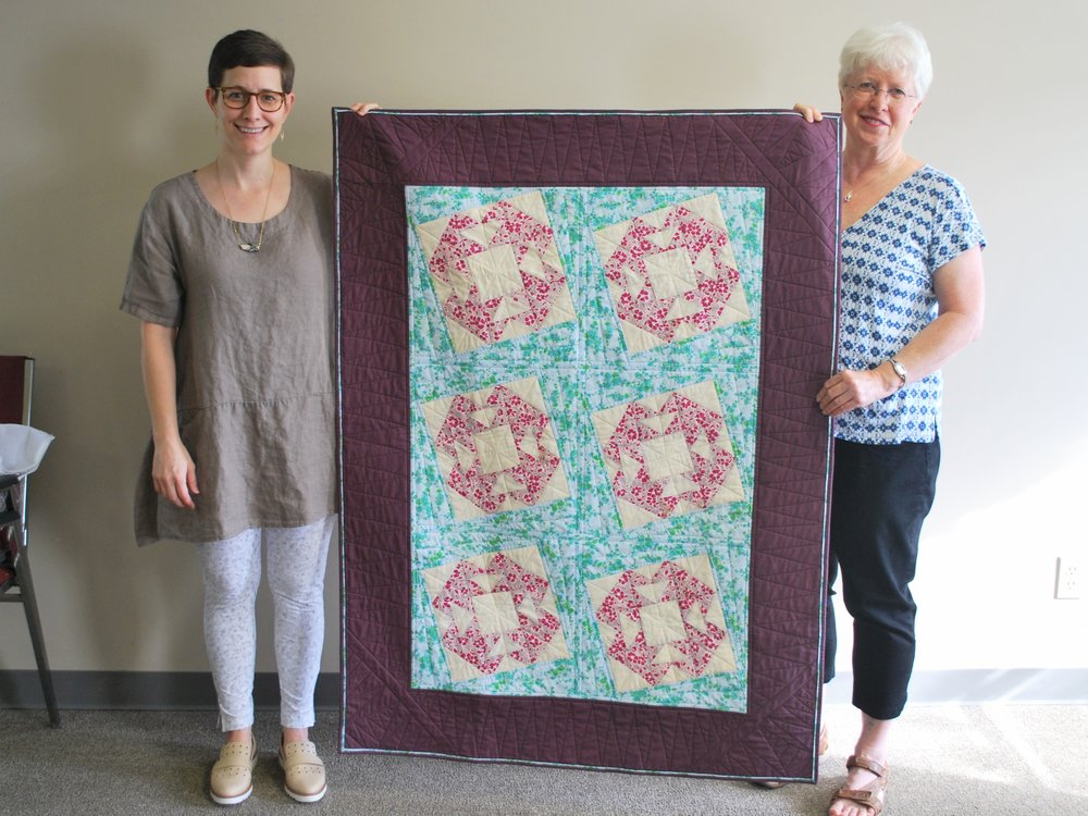 Cut It Up! Challenge quilt by Martha Steele (right)