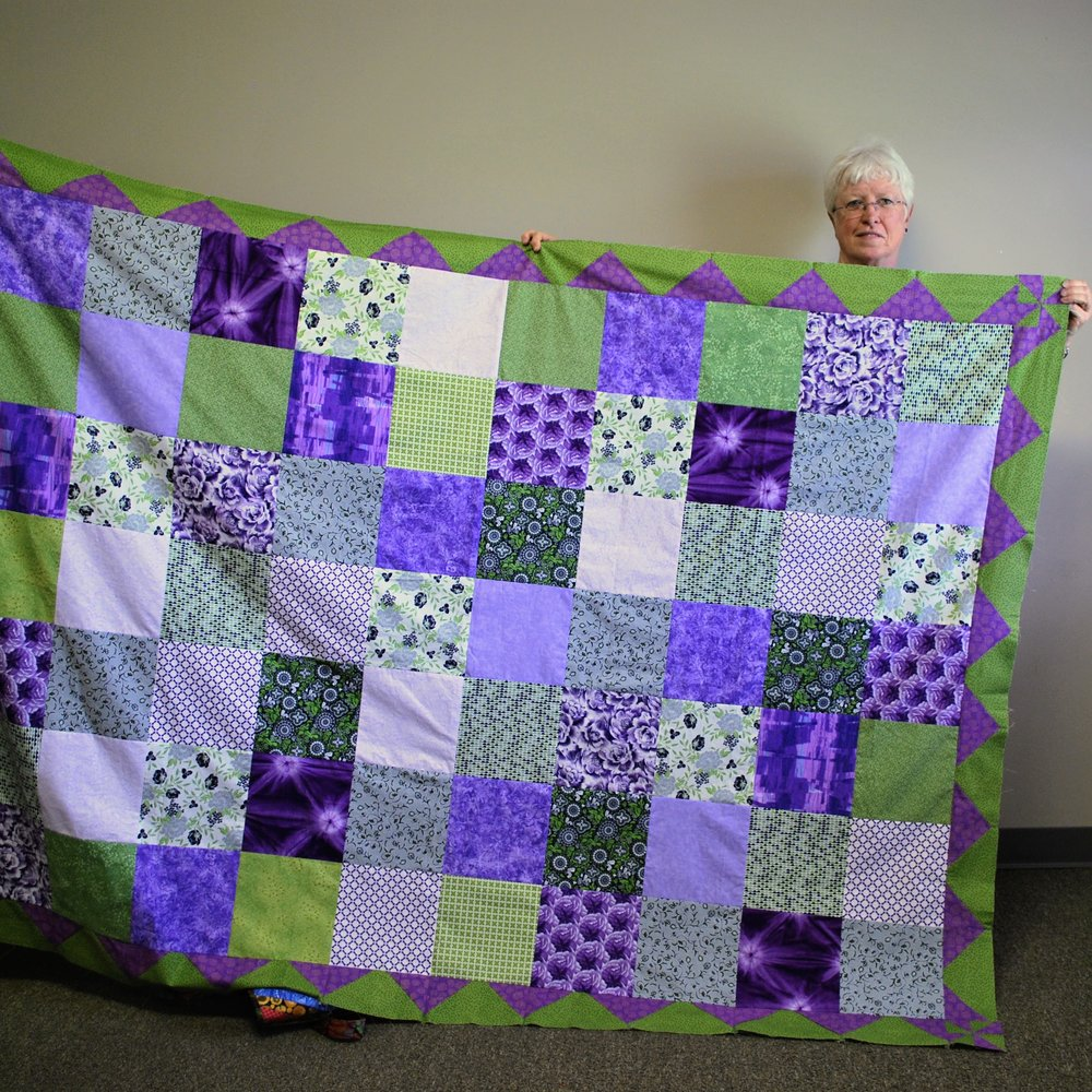 Quilt top by Martha Steele
