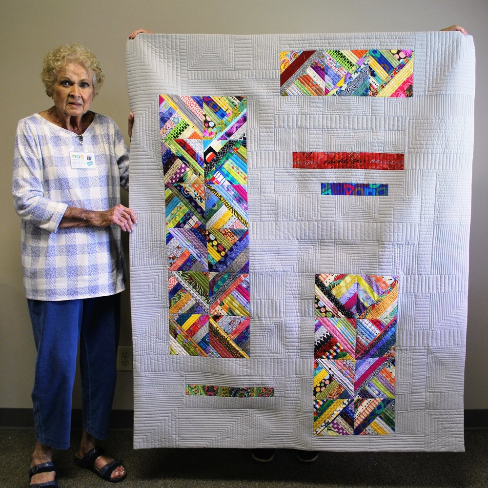 Improv quilt by Gerry Haywood