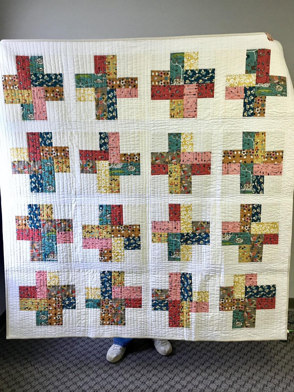Quilt by Sara Bradshaw, pattern by Rossi Hutchinson