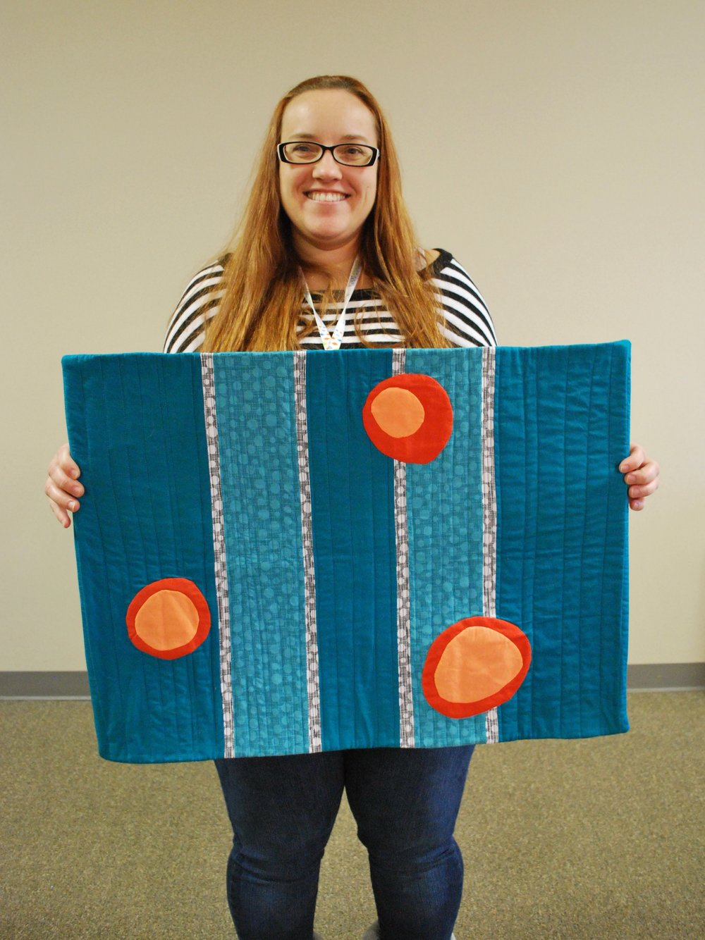 Stephanie's Modern Mini Quilt