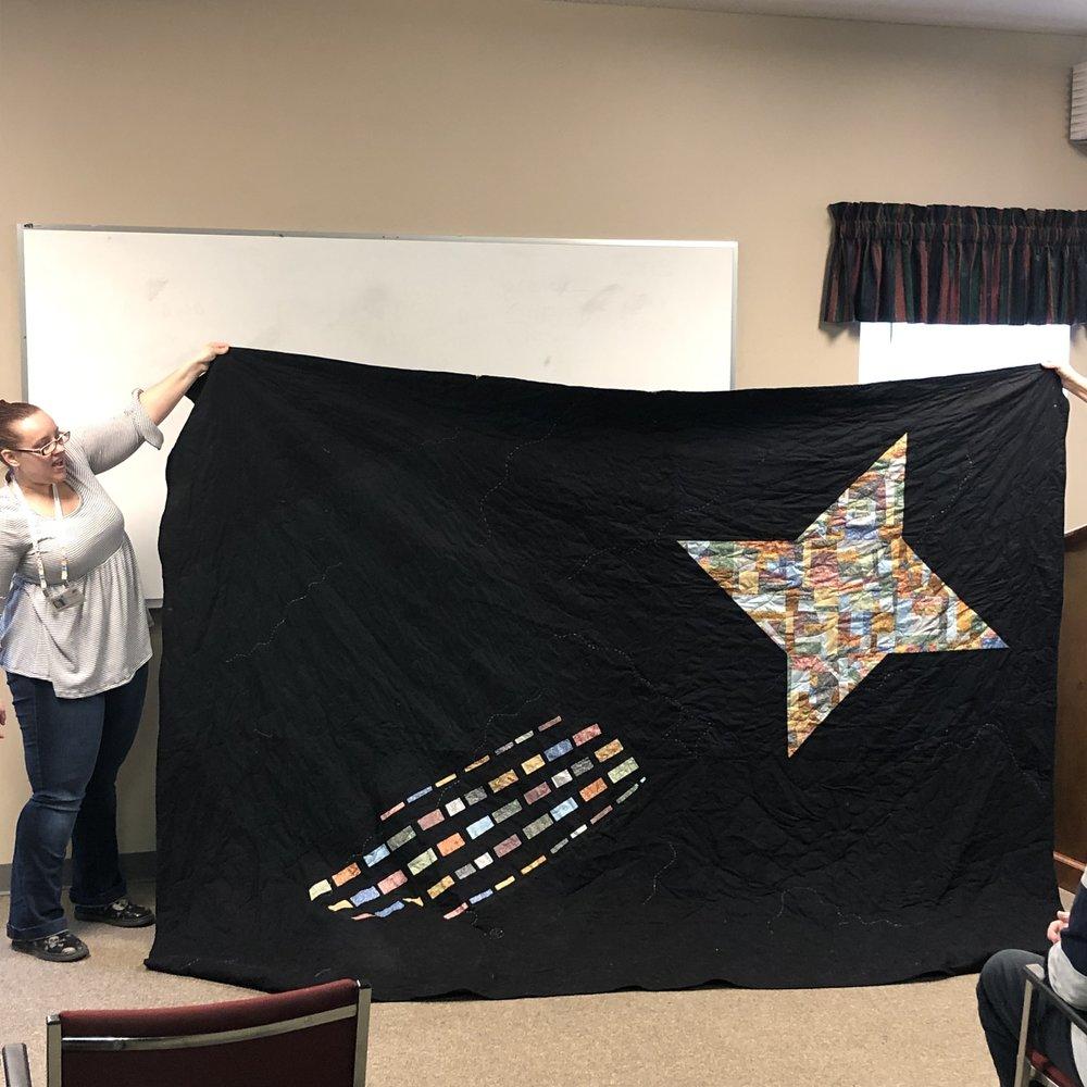Stephanie's Star Quilt (back)