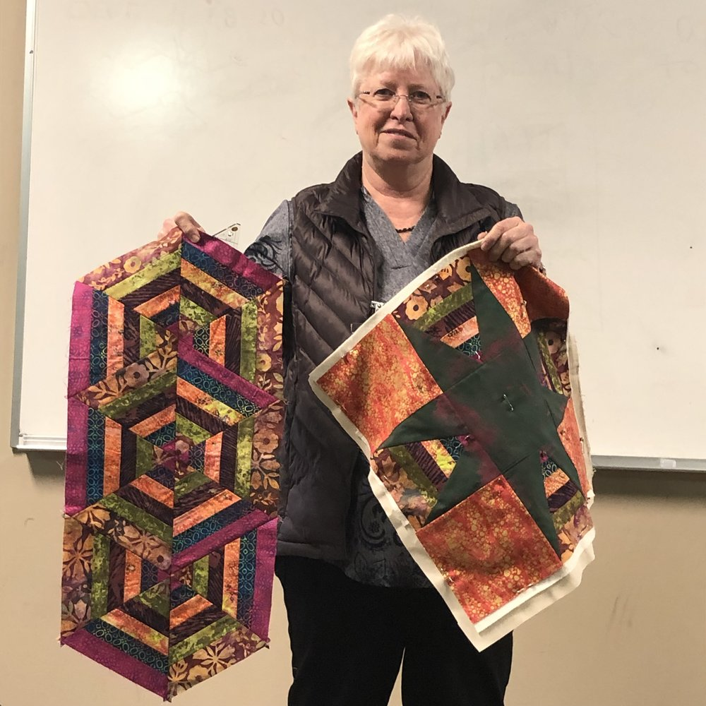 Martha's Batik Triangle Quilts