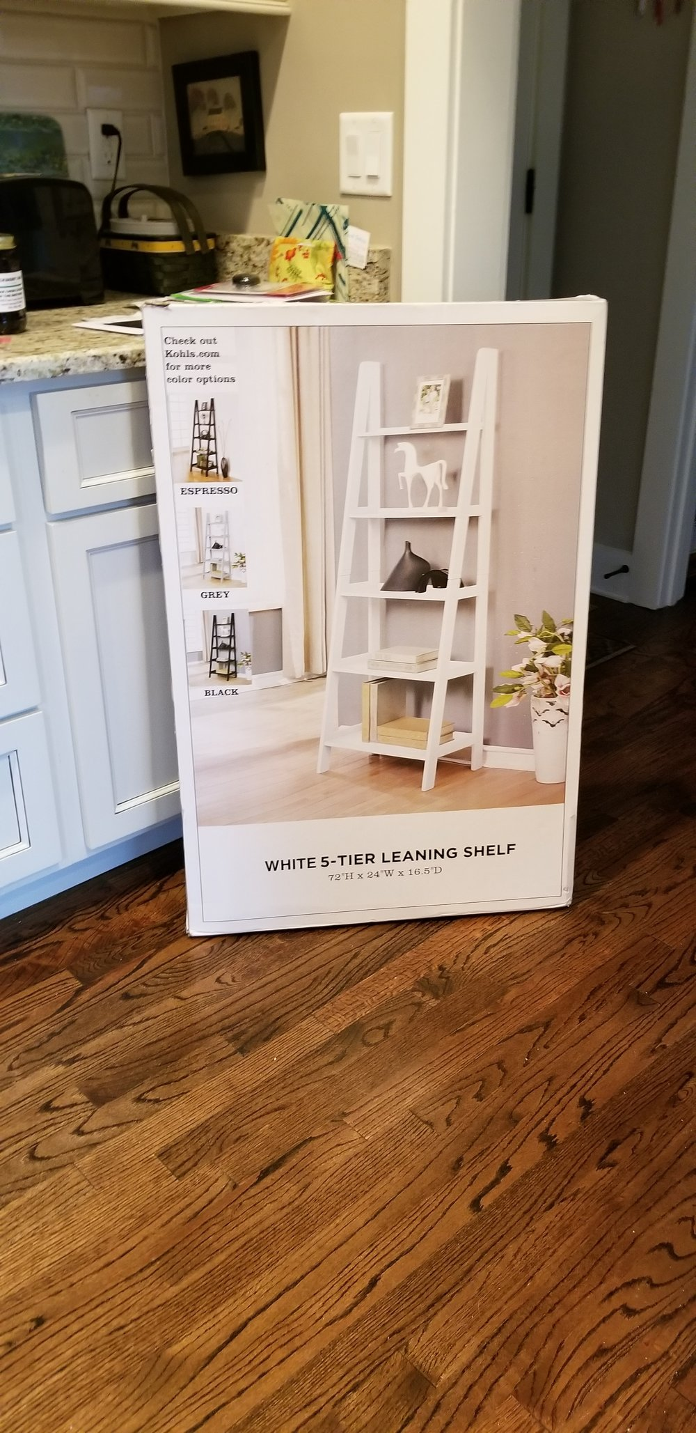 Leaning Shelf Rack