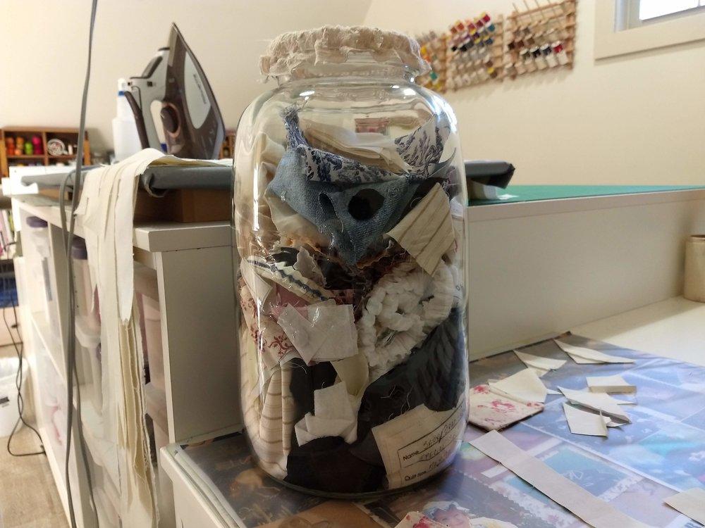 Large Mason Jar for Scraps