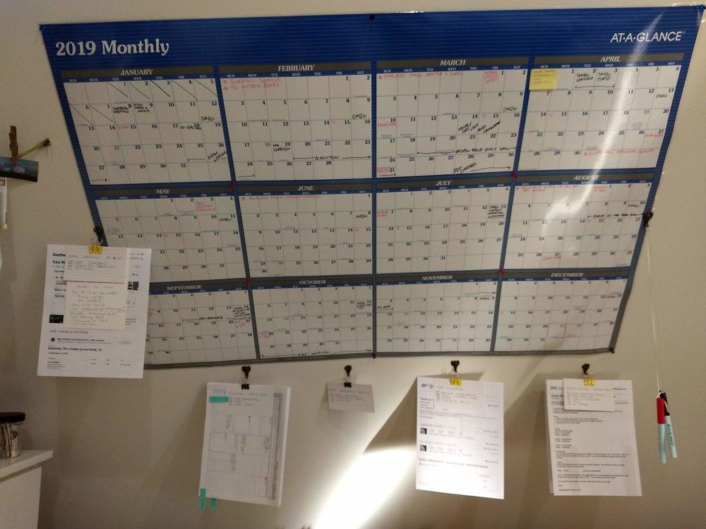 Quilting Wall Calendar