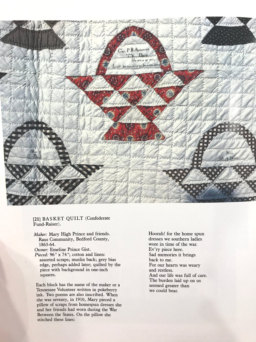 This is the quilt we chose as the inspiration for our design.