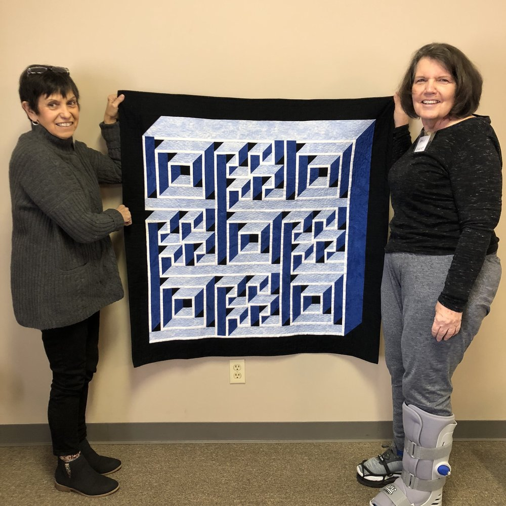 Kathy's Labyrinth Quilt