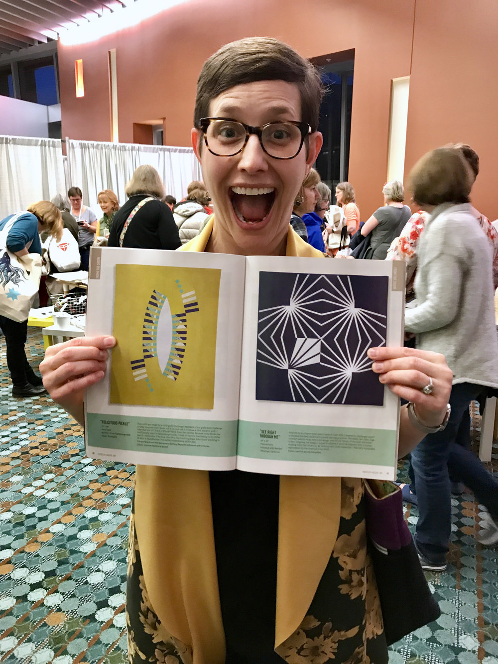Kelly's quilt is featured in the 2019 issue of QuiltCon Magazine
