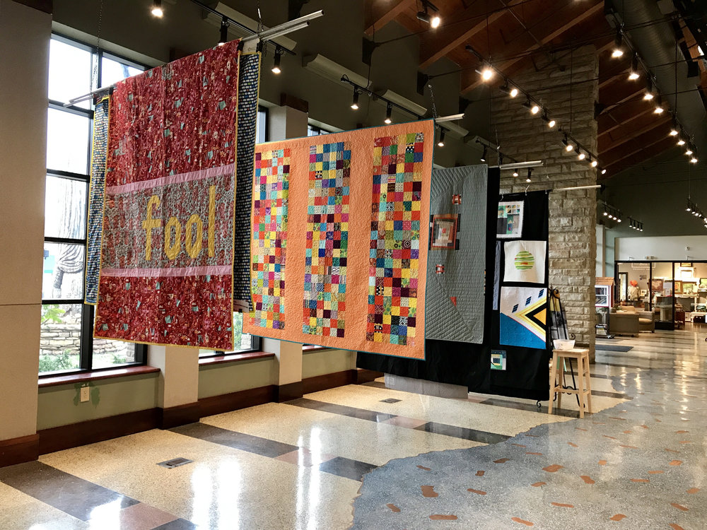 ChattMQG members' quilts hung at the Museum Center at 5ive Points in Cleveland, TN.