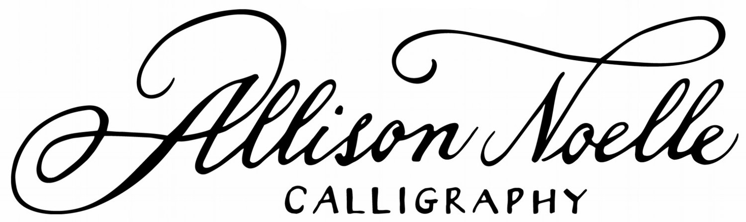 Allison Noelle Calligraphy-Los Angeles Calligrapher