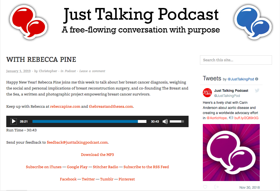 Just Talking Podcast: A Free-flowing Conversation with Purpose -