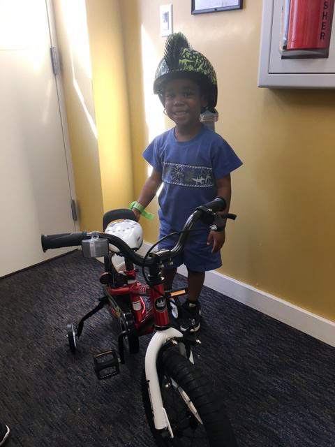 Tyler and his first bike!