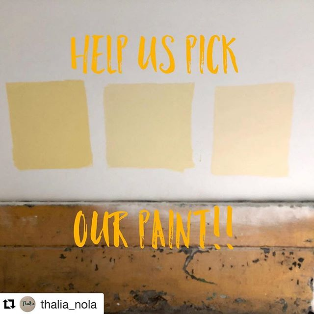 #Repost @thalia_nola with @get_repost ・・・ We Need Your Help!! It's time to pick out our interior paint color! Join us at Thalia tomorrow, 1245 Constance Street, from 2pm-5pm. We are looking forward to meeting a bunch of our neighbors, showing off the space, introducing you to some of our team and getting your opinion on the paint colors. Crawfish by Bevi Seafood as well as beers, rosé and juice boxes will be on hand! See you tomorrow!  #arestaurantfortheneighborhood #comingsoon #lowergardendistrict #thalia