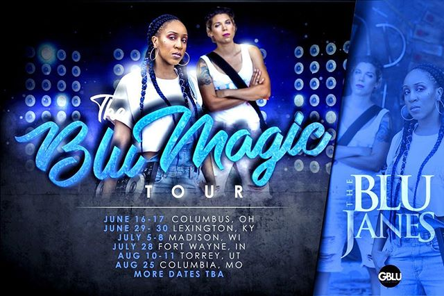 1 week away from the #BluMagic tour! We have new music 🎶 and new moves 💃 coming to a city near you. Stay tuned for more dates! . . . #blumagictour #nashville  #columbus #houston #indiana #ohio #wisconsin #missouri #pride #duo #edm #hiphop #theblujanes