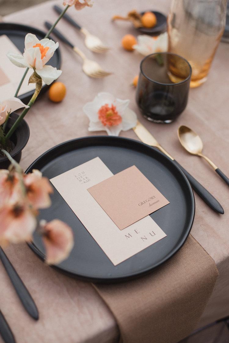 Carta Plena Wedding Invitation Design - Custom Brand Design Viola Hill Studio
