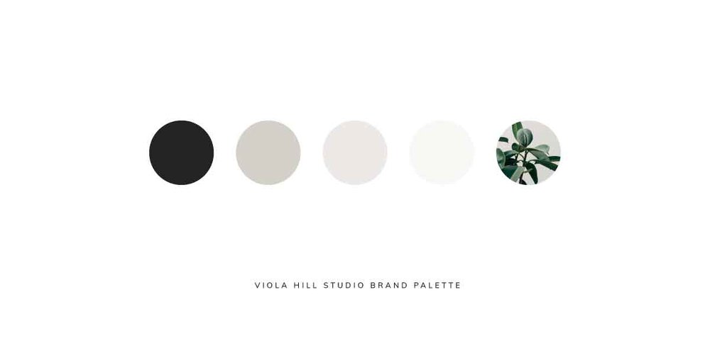How to align your brand with your Instagram feed  |  brand palette  |   Viola Hill Studio